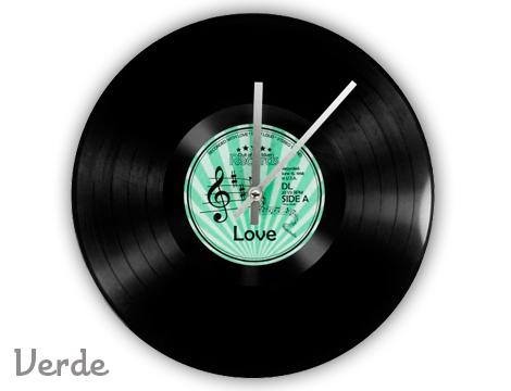 Orologio disco in vinile