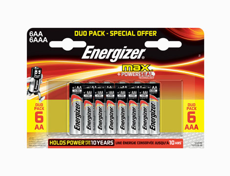 Pack 2x24 Energizer Alkaline power