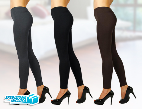 Pack 3 leggings donna