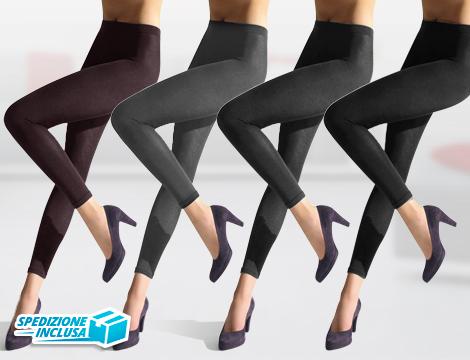 Pack 3 leggings sportivi donna