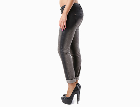Pantalone nero Sexy Woman fianco