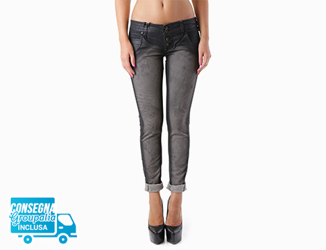 Pantalone nero Sexy Woman fronte
