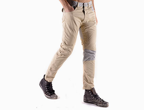 Pantaloni Absolut Joy beige fianco