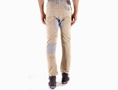 Pantaloni Absolut Joy beige retro
