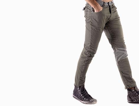 Pantaloni Absolut Joy verde fianco