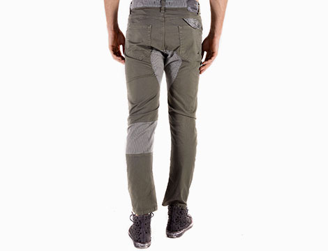 Pantaloni Absolut Joy verde retro