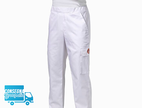 Pantaloni unisex Masterchef bianchi varie taglie