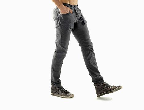 Pantaloni con tasche Absolut Joy antracite fianco