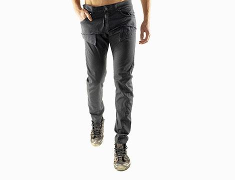 Pantaloni con tasche Absolut Joy antracite fronte
