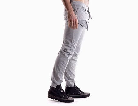 Pantaloni con tasche Absolut Joy grigio chiaro fianco