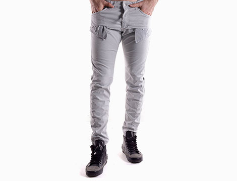 Pantaloni con tasche Absolut Joy grigio chiaro fronte