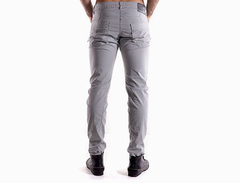 Pantaloni con tasche Absolut Joy grigio chiaro retro