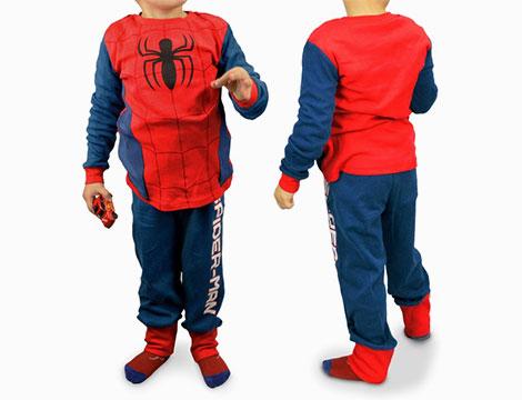 Pigiama in pile di Spiderman_N