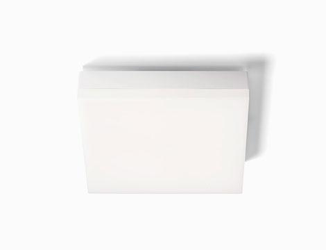 Plafoniera quadra led da esterno bianca