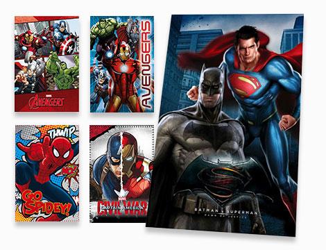 Plaid con supereroi per bambini