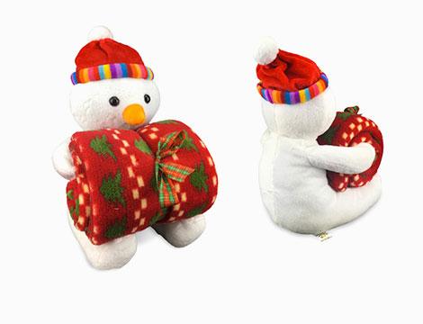 Set natalizio plaid e peluche vari soggetti