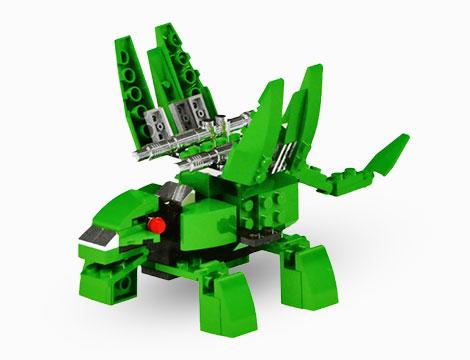 Playset mattoncini Dino Robot