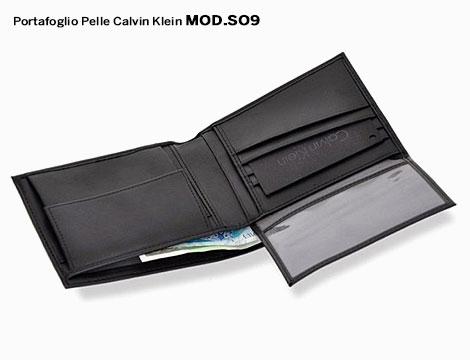 Portafogli in pelle Calvin Klein