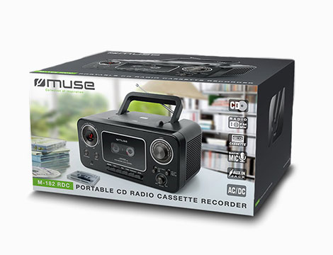Radio portatile con musicassette_N