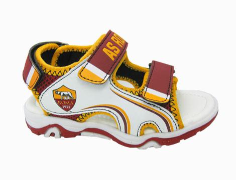 Sandalo con sottopiede in pelle bimbo Roma