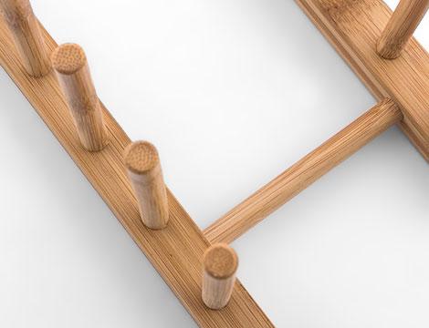 Scolapiatti in legno
