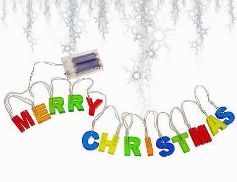 Scritta luminosa Merry Christmas