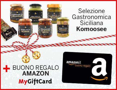 Cesto natalizio Komoosee e gift card Amazon