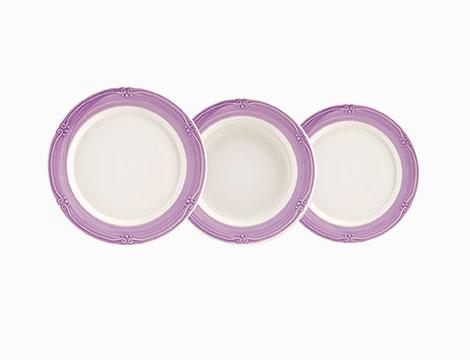 Servizio 12 piatti in ceramica H&H Siena