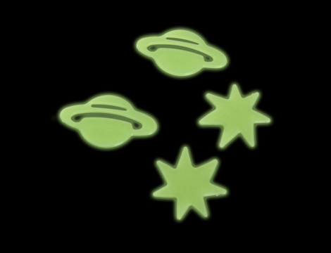 Set 24 decorazioni fluorescenti GRATIS