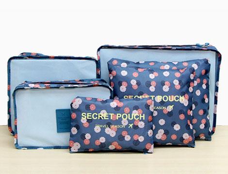 Set organizer fantasia per valigia
