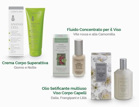 Skincare Erbolario e Planter's