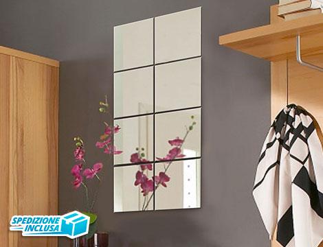 Specchio adesivo componibile 8 pezzi_N