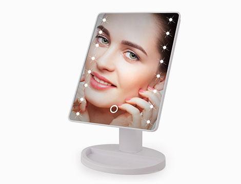 Specchio per truccarsi con 16 led_N