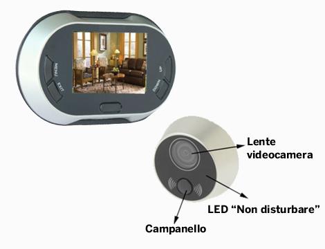 Spioncino digitale LCD 3.5
