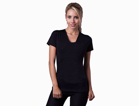 T-shirt donna effetto slim_N