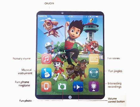 Tablet educativo 3D parlante
