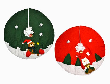 Tappeto circolare copribase per albero di Natale