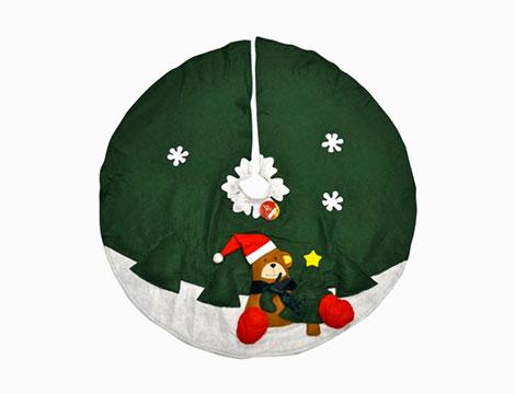 Tappeto copribase circolare albero di Natale rosso o verde