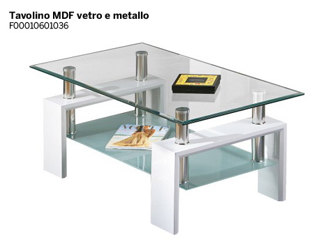 Offerta shopping tavolino glass groupalia for Tavolino salotto lago