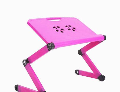 Tavolino pieghevole rosa per PC_N