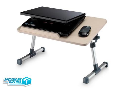 Tavolino porta PC in legno con ventole