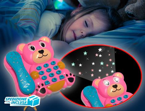 Telefono orsetto con luci e suoni