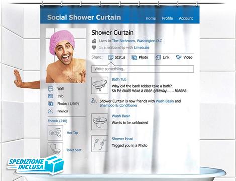 Tenda da doccia social