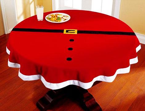 Tovaglia natalizia tonda diametro 143 cm