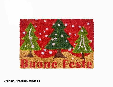 Zerbino natalizio in fibra di cocco antiscivolo rettangolare vari soggetti