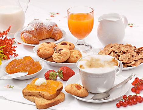 Hotel Bellaria a Levico Terme la colazione