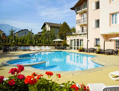Hotel Bellaria a Levico Terme piscina