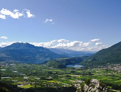 Levico Terme vista della valle