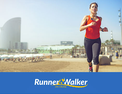 Runner e Walker on cruise barcellona