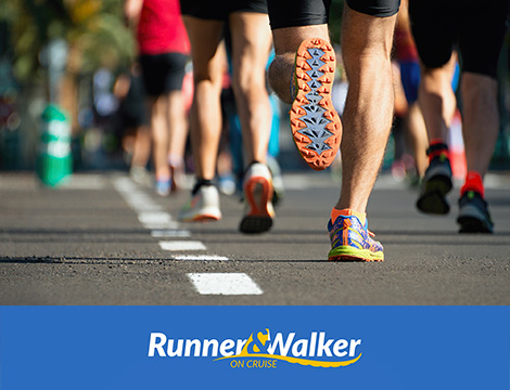 Runner e Walker on cruise corsa per la citta
